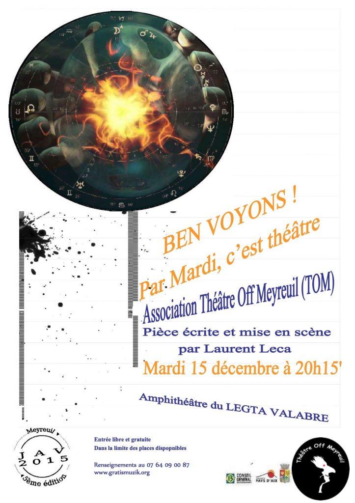 """Affiche du spectacle 2015 de """"Mardi, c'est théâtre"""" 1"""