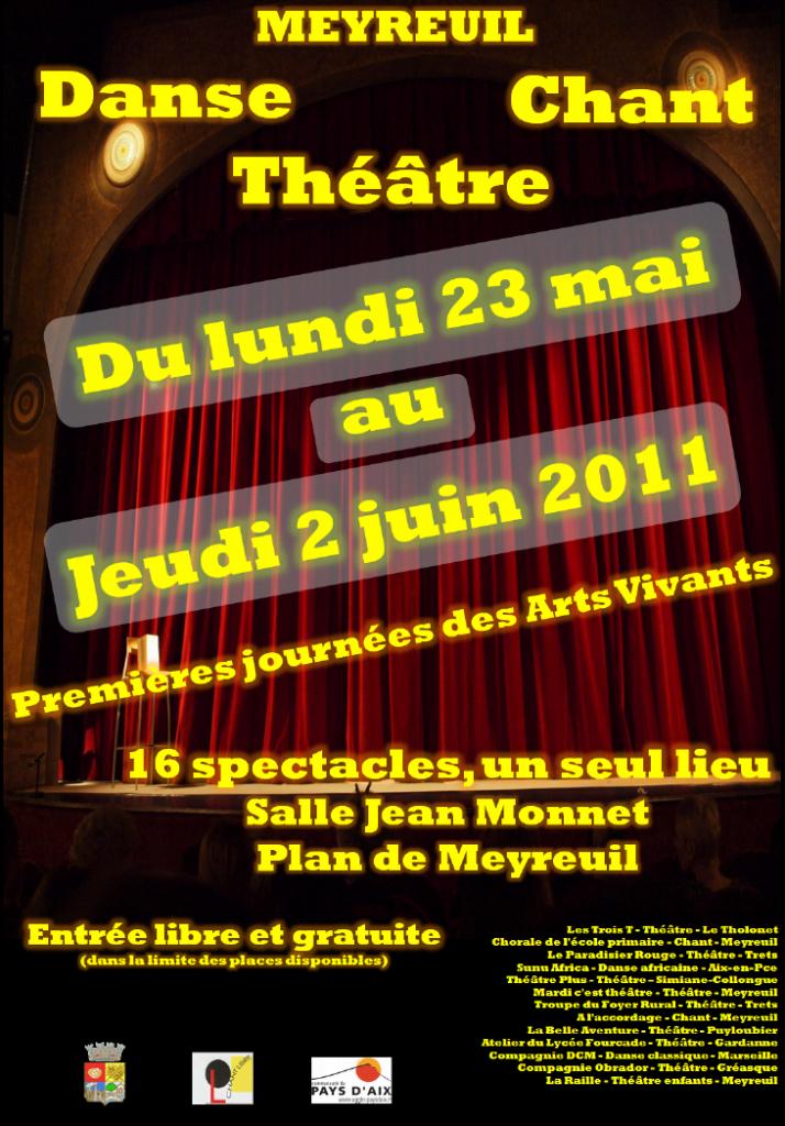 Affiche officielle et programme des Journées des Arts Vivants 2011 1