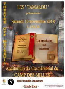 """Les Tamalou au Camp des Milles pour """"La maison de carton"""" 3"""