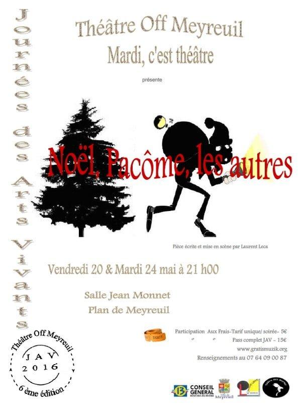 affiche de la comédie Noël Pacôme les autres de Laurent Leca