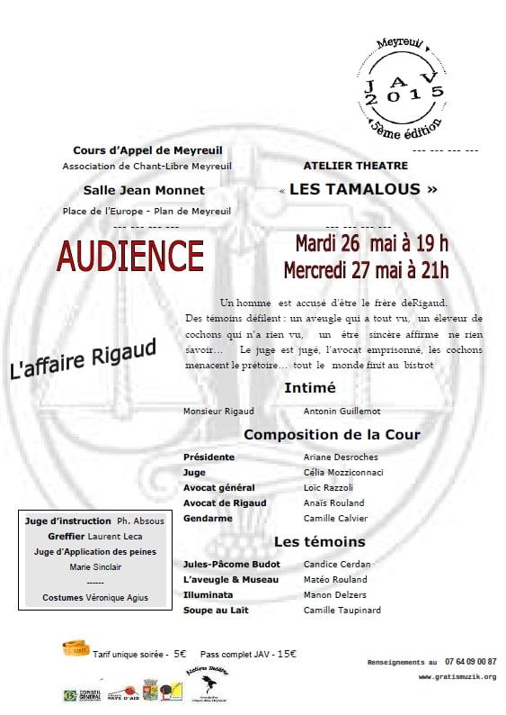 Affiche du spectacle 2015 des Tamalou 1