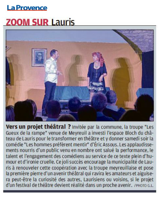 Les Gueux à Lauris (article La Provence du 10 Octobre 2018) 1