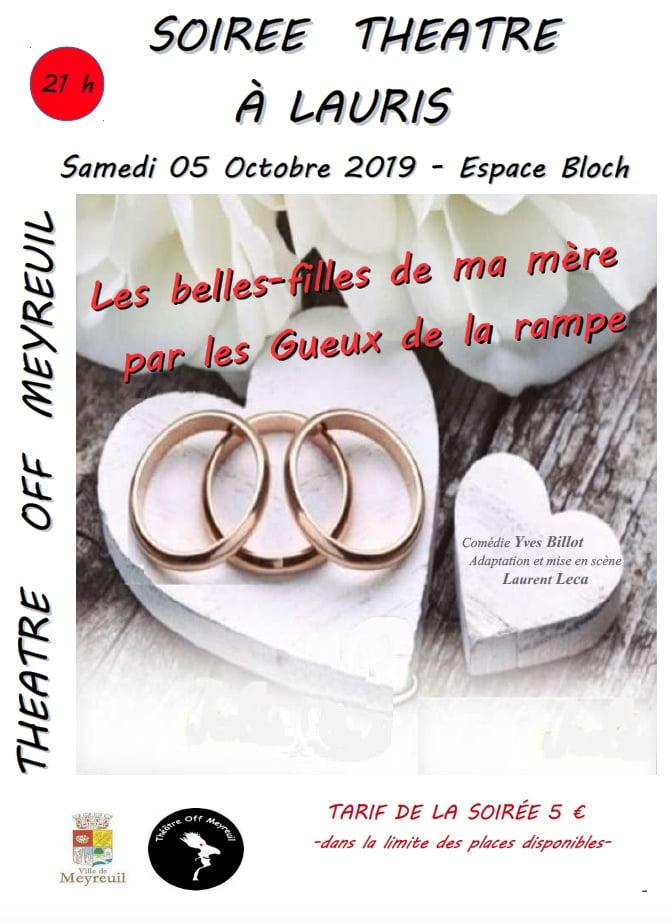 Théâtre: affiche lauris 05/10/2019