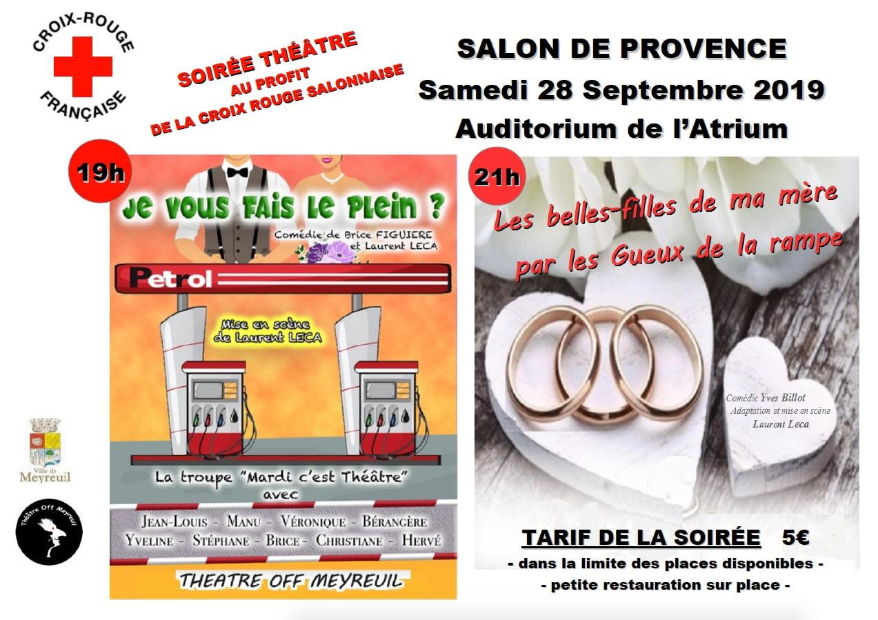 double affiche des spectacles samonnais du 28/09/2019
