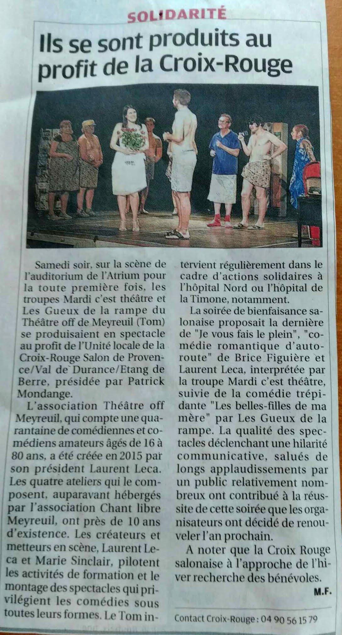 Article La Provence Salon le 02/10/2019 1