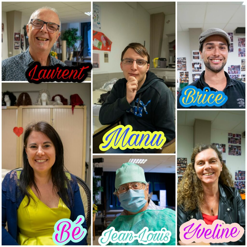 Collage des protagonistes de Mardi
